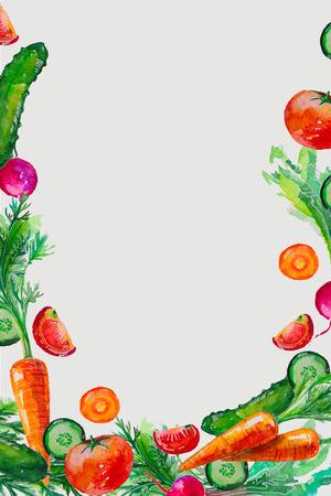 watercolor set with berries Stok Fotoğraf