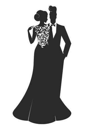 lazo negro: Tarjeta de boda - Just Married