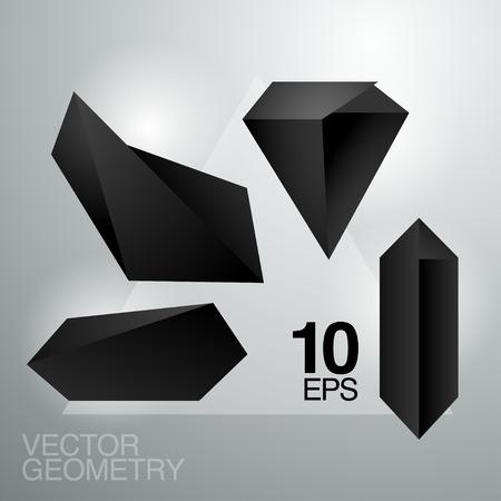 set of vector crystals 版權商用圖片 - 37440425