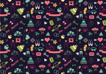 wedding seamless pattern Vector