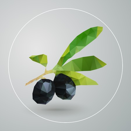 black olive: Vector isolated geometric triangles