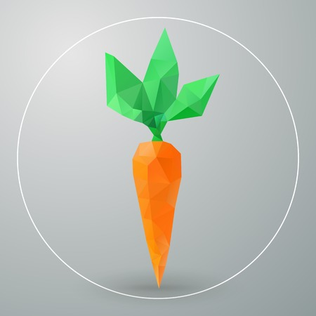 Vector isolated geometric carrots triangles Vector