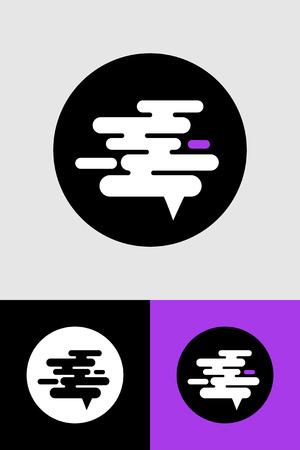 logos design vector smoke fumes