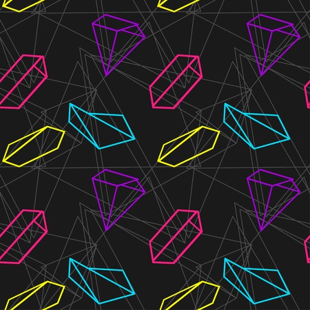 pattern of geometric shapes: vector abstract background Illustration