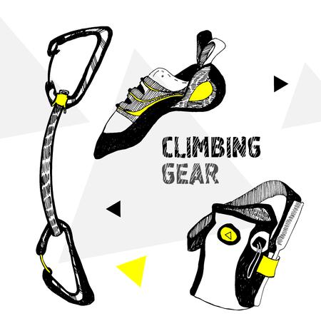 rockclimbing: Vector rock-climbing Stock Photo