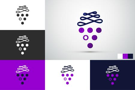 vector logo design - grapes