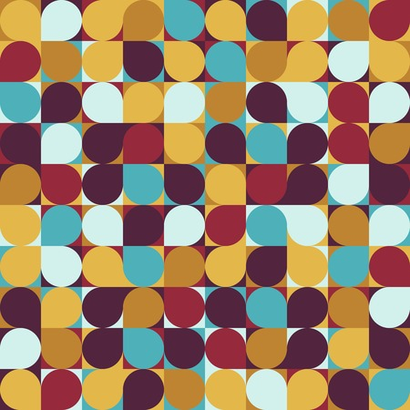 vector circle mosaic seamless pattern background Vectores