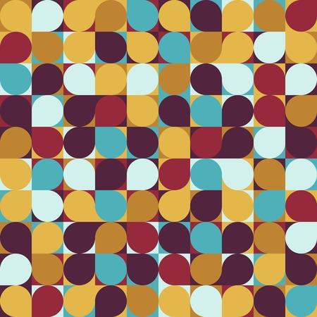 vector circle mosaic seamless pattern background Illusztráció