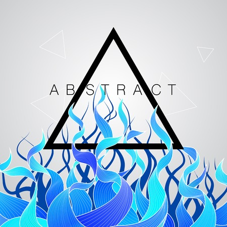 conection: Vector abstract background with triangle and color wave. EPS10 Illustration
