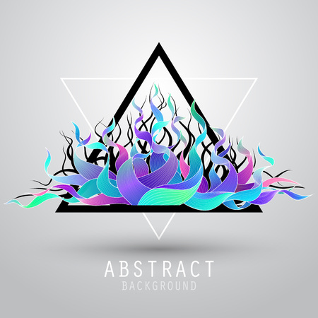 Vector abstract background with triangle and color wave. EPS10 向量圖像