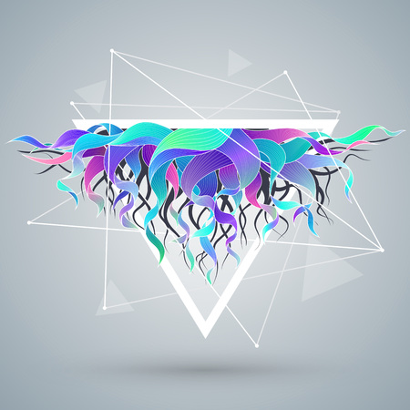 Vector abstract background with triangle and color wave. EPS10 Ilustracja