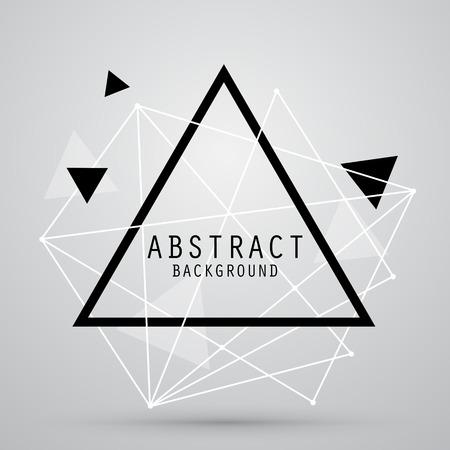 triangulo: Fondo abstracto del vector con el triángulo. EPS10