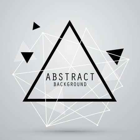 isolated on grey: Vector abstract background with triangle. EPS10