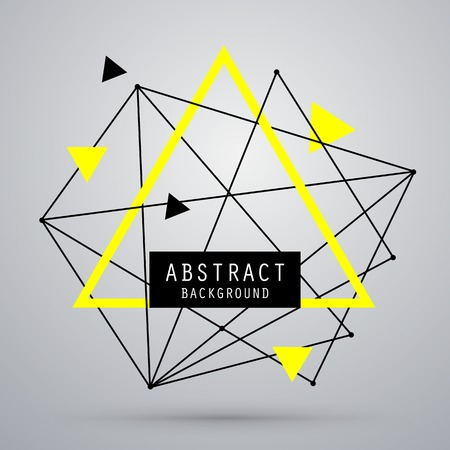 geometria: Fondo abstracto del vector con el triángulo. EPS10