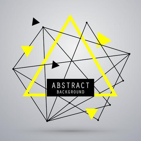 Vector abstracte achtergrond met driehoek. EPS10 Stock Illustratie