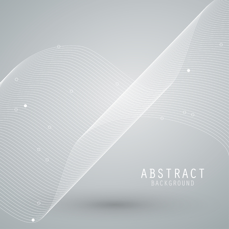 rhythm: Vector abstract background with white mesh, waves lines. EPS10