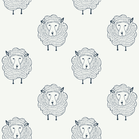sheeps: Sheeps seamless pattern. Animal background. Vector illustration