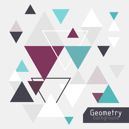 vector abstract background with triangles