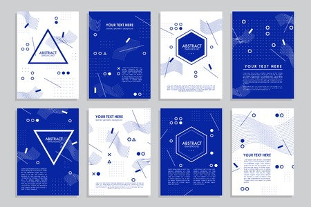 Vector brochure template design. Collection