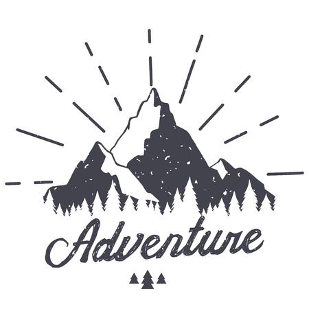텍스처와 벡터 산입니다. 견적과 함께 일러스트를 스케치하십시오. 모험 일러스트