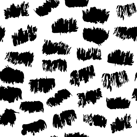 hand torn: Vector seamless pattern with torn pieces. Hand drawn brush texture
