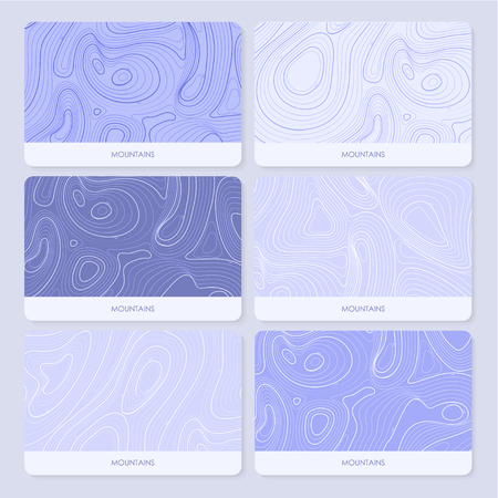 geographic: Mountains topographic contour maps. geographic backgrounds Illustration