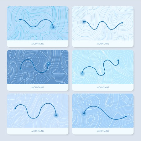 geographic: Mountains topographic contour maps. geographic backgrounds. Get directions Illustration