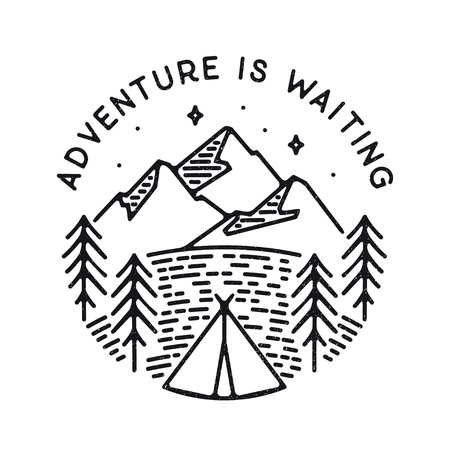 Inspirational vector illustration - Adventure is waiting