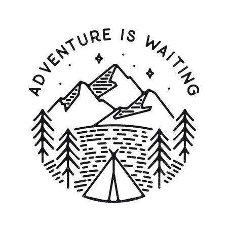 Inspirational vector illustration - Adventure is waiting