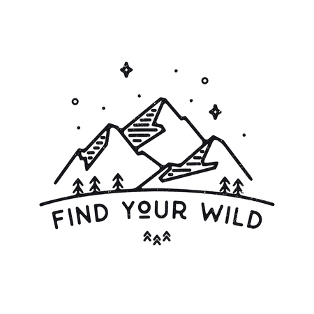 Inspirational vector illustration - Find your wild