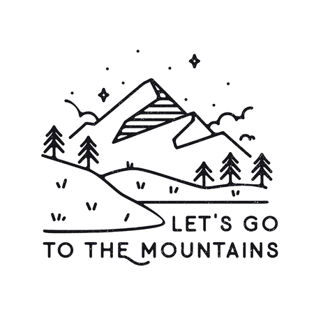 Inspirational vector illustration - Lets go to the mountains