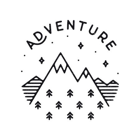 Inspirational vector illustration - Adventure Ilustracja
