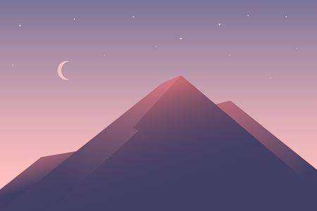 Summer sunset in the mountains