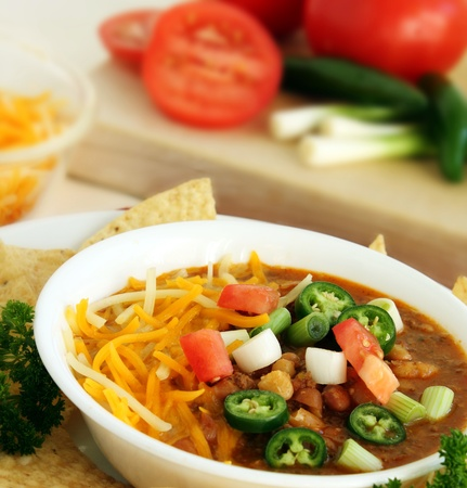 Delicious Bowl of Spicy Jalapeno Chili