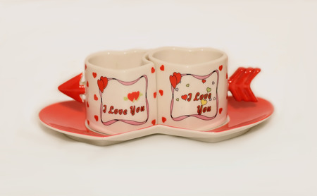 coffee cups: cups of coffee Romantic