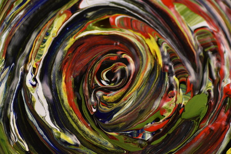 tempera: tempera paints on paper Stock Photo