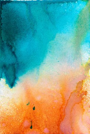 colorful watercolor stains and streaks
