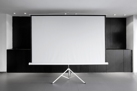 Leeg projector canvas