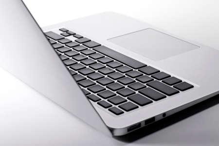 Closeup laptop keyboard
