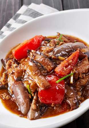 Chinese food, Grilled Eggplant with Sauce