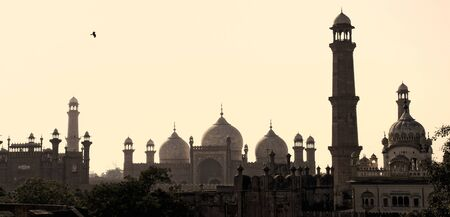 Lahore old city skyline Stock fotó