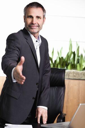 Businessman closing contract. Stock Photo