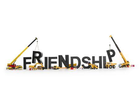 Developing friendship: Machines working on word.