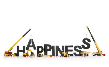 Establish happiness: Machines building word.