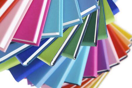 Macro of colorful books fan