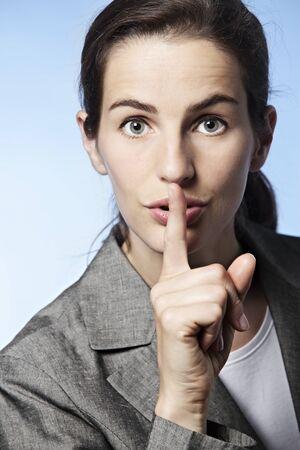 Woman symbolizing silence. Stock fotó