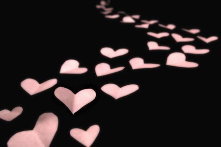 Pink paper hearts Stock Photo