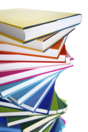 Macro of spiral stack of books