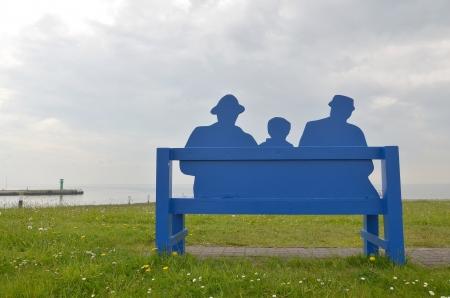 auszeit: Blue Men Group Stock Photo