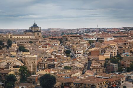 Medieval city of Toledo in the center of Spain, Roofs of Toledo. Stock Photo